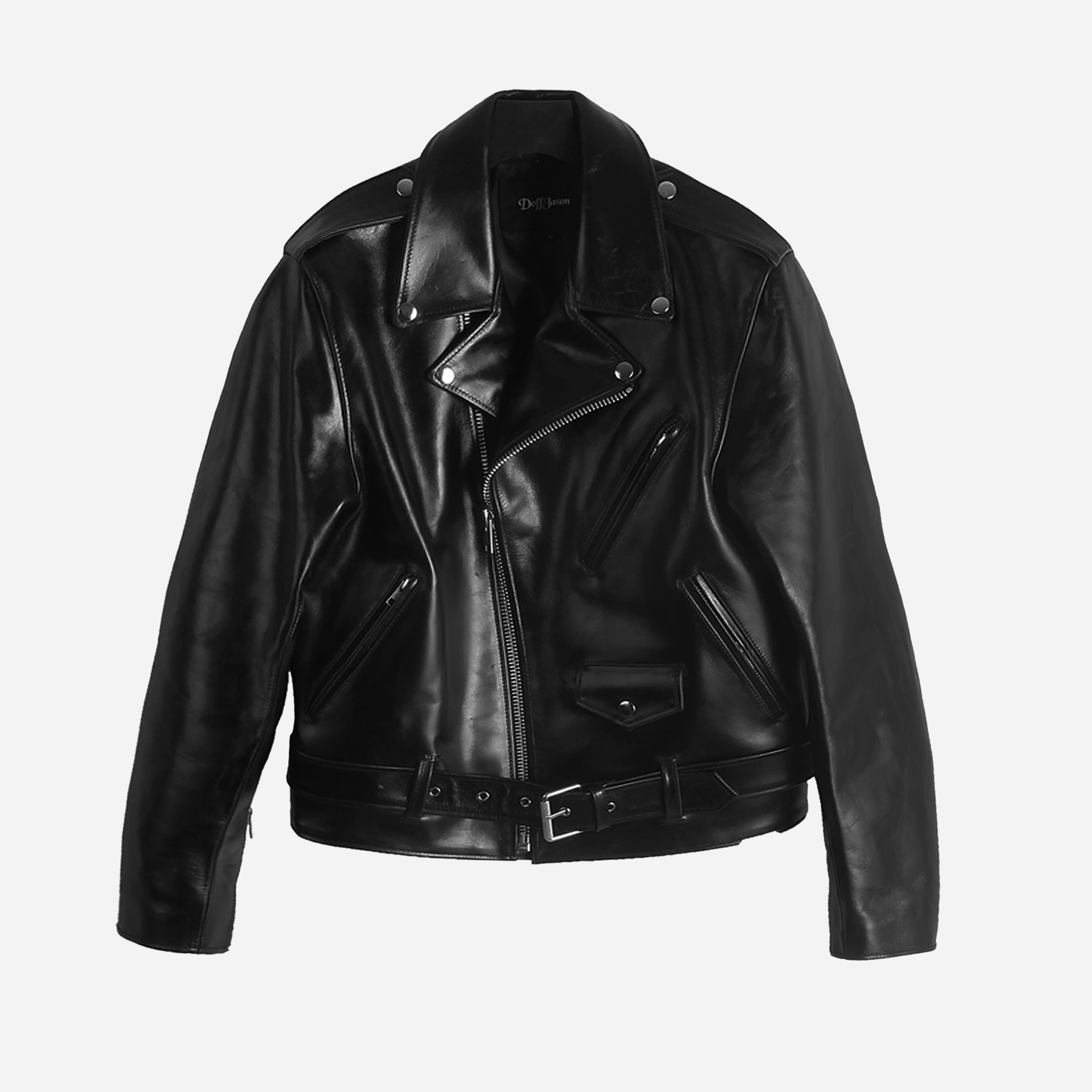 Cowhide hard rider jacket