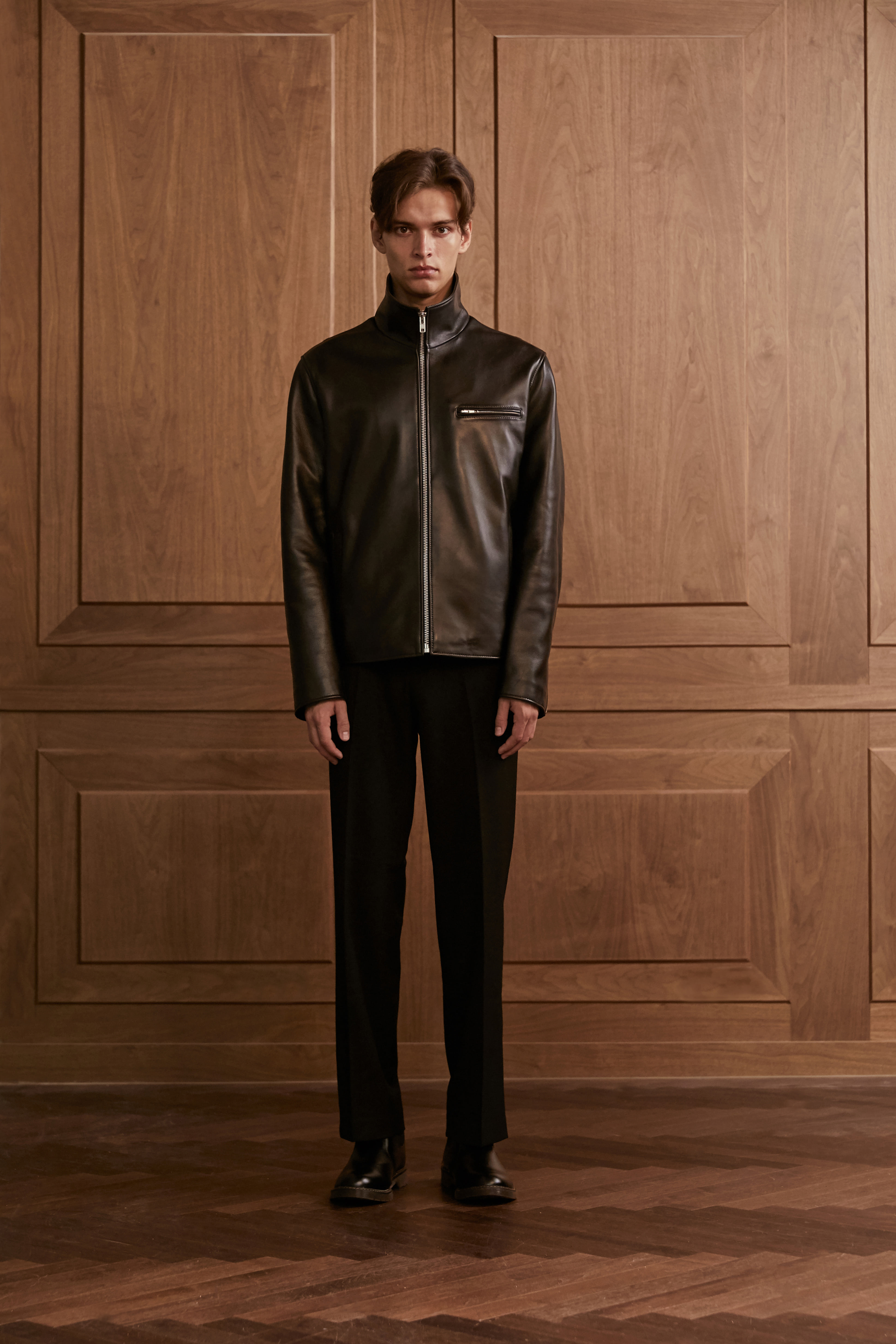 Lambskin noncallar single jacket